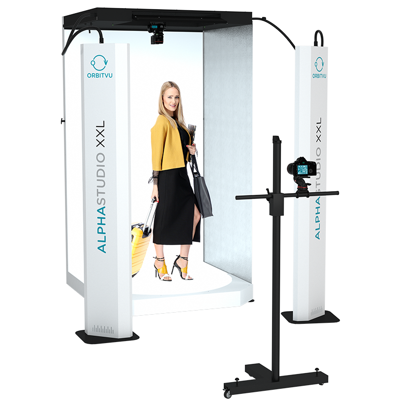 ALPHASTUDIO XXL - Automated Product Photography System - product image with model