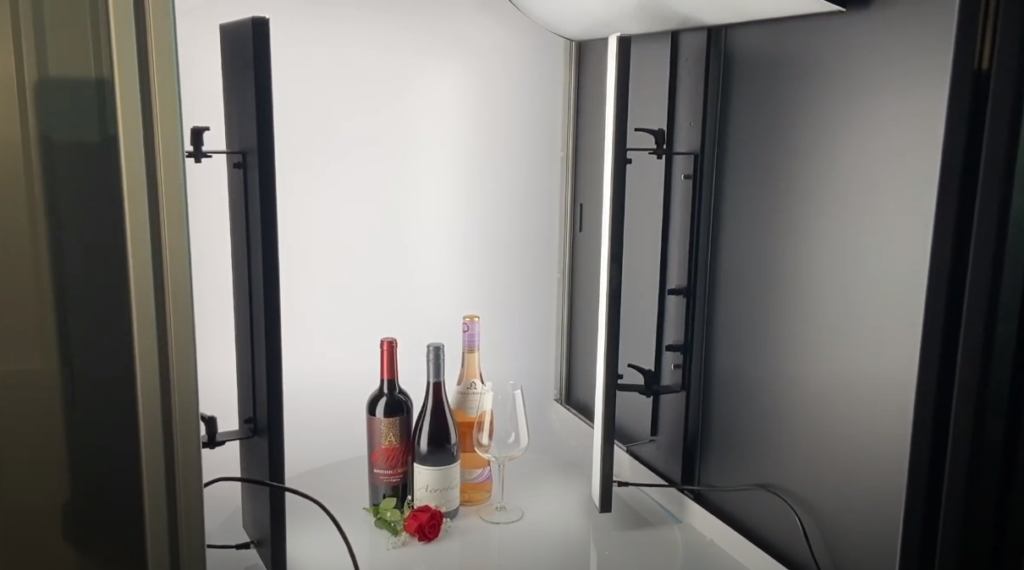 Inside view of photoshoot set-up in AlphaShot XL