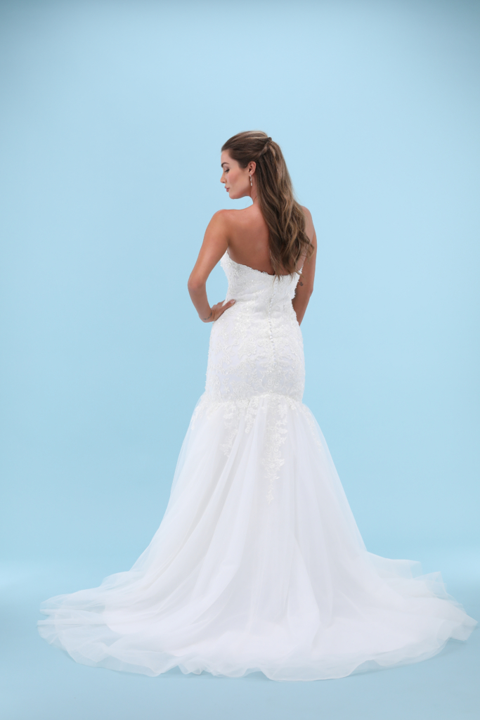 Wedding Dress Back View for website product page