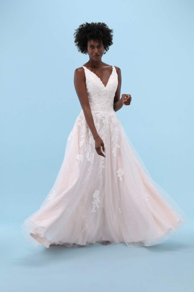 Wedding Dress in motion photo for website product page or social media post