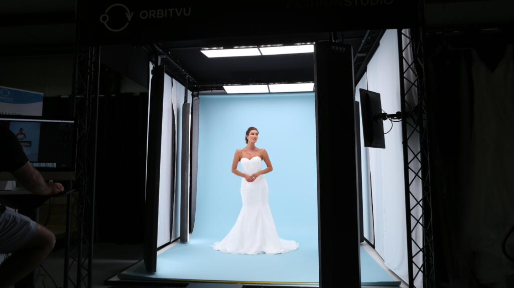 Behind the Scenes - One photography studio set-up for shooting photos for all wedding dresses